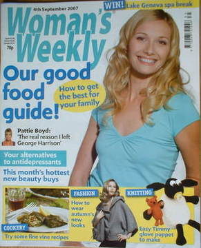 <!--2007-09-04-->Woman's Weekly magazine (4 September 2007 - British Editio