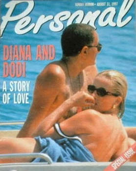 Personal magazine - Princess Diana and Dodi Al Fayed cover - 31 August 1997