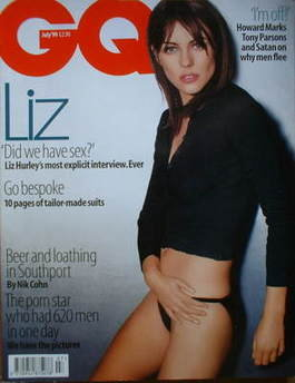 <!--1999-07-->British GQ magazine - July 1999 - Liz Hurley cover
