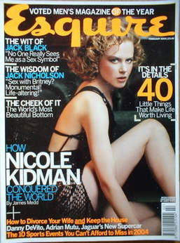 <!--2004-02-->Esquire magazine - Nicole Kidman cover (February 2004)