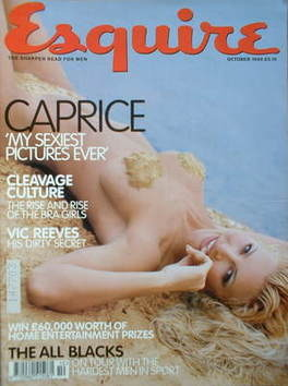 <!--1999-10-->Esquire magazine - Caprice Bourret cover (October 1999)