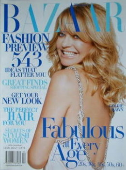 Harper's Bazaar magazine - April 2005 - Goldie Hawn cover
