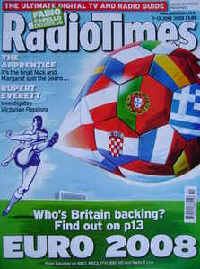 <!--2008-06-07-->Radio Times magazine - Euro 2008 cover (7-13 June 2008)