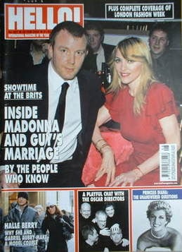 <!--2006-02-28-->Hello! magazine - Madonna and Guy Ritchie cover (28 Februa