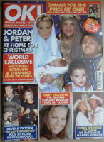<!--2008-01-01-->OK! magazine - Jordan Katie Price and Peter Andre and family cover (1 January 2008 - Issue 603)