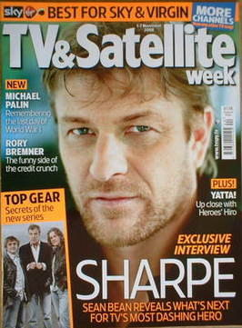 TV&Satellite Week magazine - Sean Bean cover (1-7 November 2008)