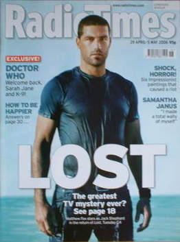<!--2006-04-29-->Radio Times magazine - Matthew Fox cover (29 April-5 May 2