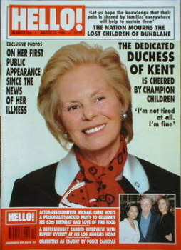 <!--1996-03-23-->Hello! magazine - The Duchess of Kent cover (23 March 1996 - Issue 399)