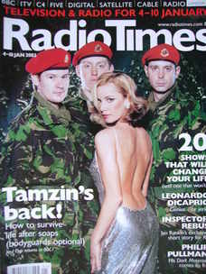<!--2003-01-04-->Radio Times magazine - Tamzin Outhwaite cover (4-10 Januar