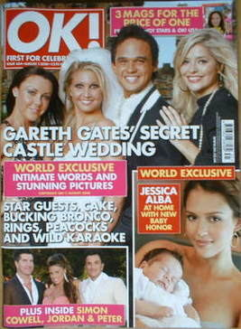 <!--2008-08-05-->OK! magazine - Gareth Gates wedding cover (5 August 2008 -