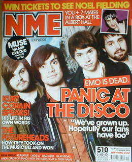 <!--2008-03-22-->NME magazine - Panic At The Disco cover (22 March 2008)