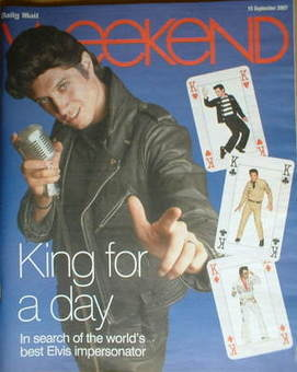 <!--2007-09-15-->Weekend magazine - Vernon Kay (15 September 2007)