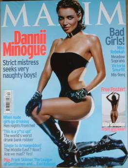 <!--2001-12-->MAXIM magazine - Dannii Minogue cover (December 2001)