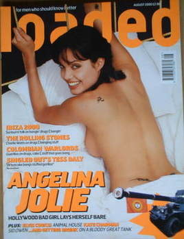 <!--2000-08-->Loaded magazine - Angelina Jolie cover (August 2000)
