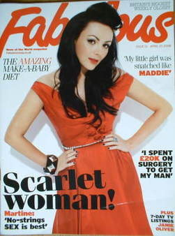 Fabulous magazine - Martine McCutcheon cover (27 April 2008)