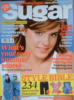 Sugar magazine - Emma Watson cover (August 2007)