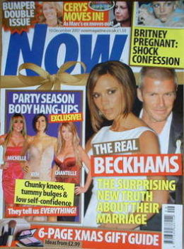 Now magazine - David Beckham and Victoria Beckham cover (10 December 2007)