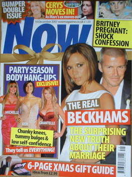 <!--2007-12-10-->Now magazine - David Beckham and Victoria Beckham cover (1