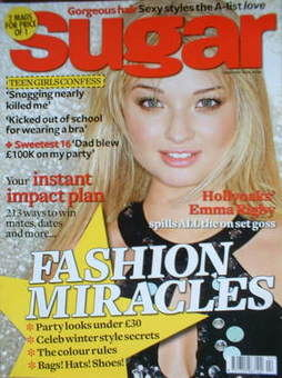<!--2008-02-->Sugar magazine - Emma Rigby cover (February 2008)