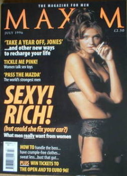 MAXIM magazine - Helena Christensen cover (July 1996)