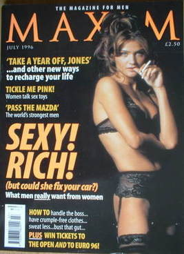 <!--1996-07-->MAXIM magazine - Helena Christensen cover (July 1996)