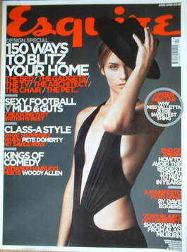 <!--2005-04-->Esquire magazine - Amber Valletta cover (April 2005)