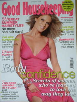 Good Housekeeping magazine - Rachel Hunter cover (July 2006)
