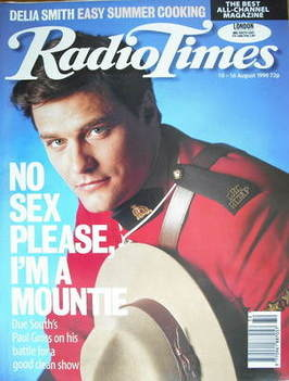<!--1996-08-10-->Radio Times magazine - Paul Gross cover (10-16 August 1996