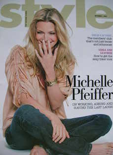 <!--2007-10-07-->Style magazine - Michelle Pfeiffer cover (7 October 2007)
