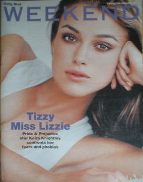 Weekend magazine - Keira Knightley cover (17 September 2005)