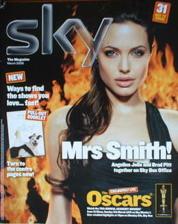 Sky TV magazine - March 2006 - Angelina Jolie cover