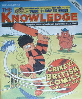 The Knowledge magazine - 8-14 September 2007 - Dennis the Menace cover