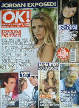 <!--2003-07-29-->OK! magazine - Jordan Katie Price cover (29 July 2003 - Is