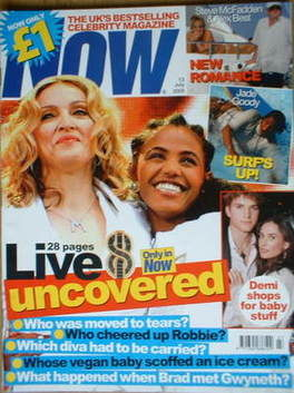 <!--2005-07-13-->Now magazine - Madonna and Birhan Woldu cover (13 July 200
