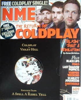 <!--2008-05-10-->NME magazine - Coldplay cover (10 May 2008)
