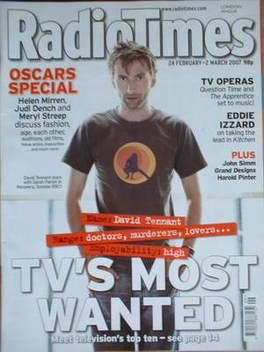 <!--2007-02-24-->Radio Times magazine - David Tennant cover (24 February-2