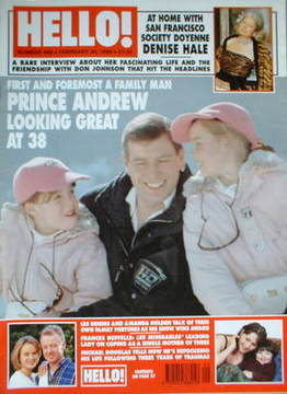 <!--1998-02-28-->Hello! magazine - Prince Andrew cover (28 February 1998 -