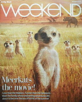 Weekend magazine - Meerkats cover (8 August 2009)