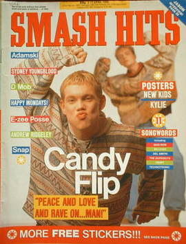 <!--1990-04-04-->Smash Hits magazine - Candy Flip cover (4-17 April 1990)