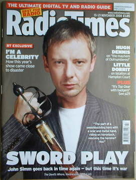 <!--2008-11-15-->Radio Times magazine - John Simm cover (15-21 November 200