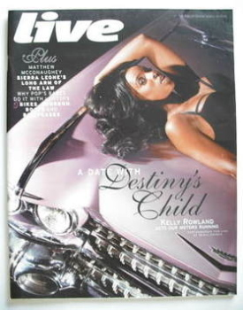 Live magazine - Kelly Rowland cover (30 March 2008)