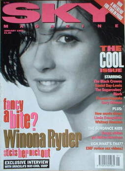<!--1993-01-->Sky magazine - Winona Ryder cover (January 1993)