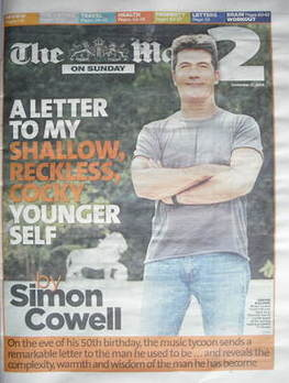 The Mail On Sunday 2 newspaper supplement - Simon Cowell cover (27 Septembe