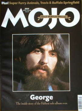 <!--2001-07-->MOJO magazine - George Harrison cover (July 2001 - Issue 92)