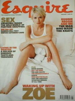 Esquire magazine - Zoe Ball cover (January 1999)