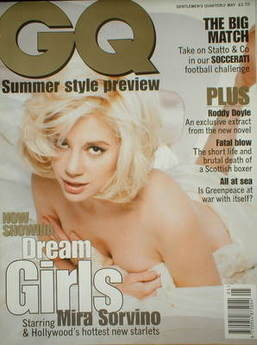 <!--1996-05-->British GQ magazine - May 1996 - Mira Sorvino cover