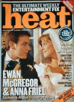 Heat magazine - Ewan McGregor and Anna Friel cover (30 January-5 February 1999 - Preview Issue)