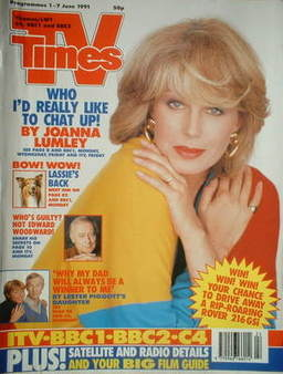 <!--1991-06-01-->TV Times magazine - Joanna Lumley cover (1-7 June 1991)