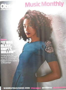 The Observer Music Monthly magazine - October 2009 - Corinne Bailey Rae cover