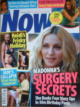 Now magazine - Madonna cover (18 August 2008)